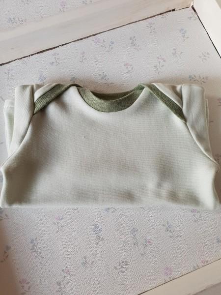 Baby Shirt aus Bio Jersey mint / grün