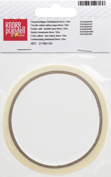 KNORR prandell Klebeband doppelseitig 10 m x 6 mm transparent