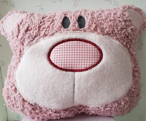 Kuschel Kissen Bär / Rosa